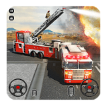 Fire Truck Driving School 911 Emergency Response android app logo