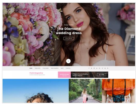 Fluid Magazine WordPress Theme