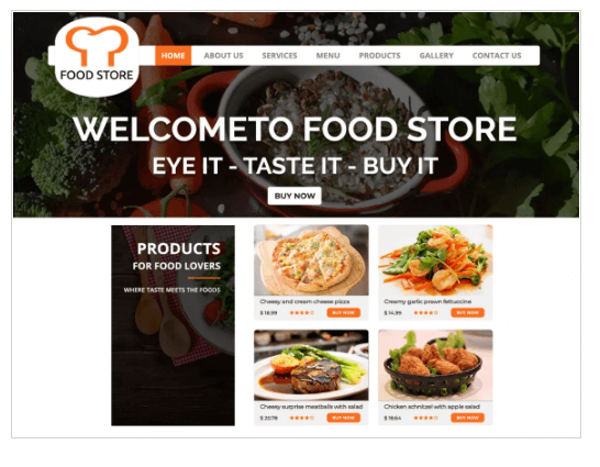 Food Restaurant WordPress Theme