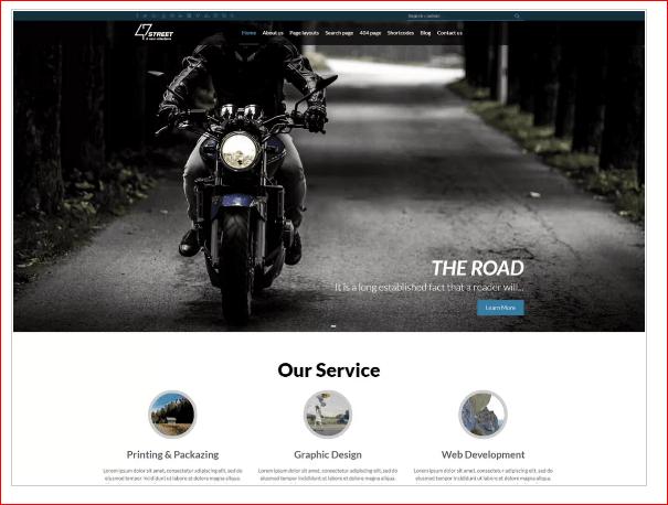FortySeven Street WordPress Theme
