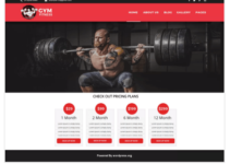 Gymfitness WordPress Theme