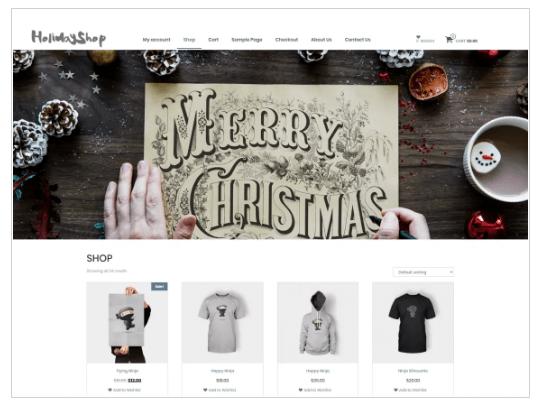 Holidayshop WordPress Theme