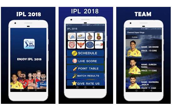 IPL 2018,Schedule,Team,News,Live Score Game