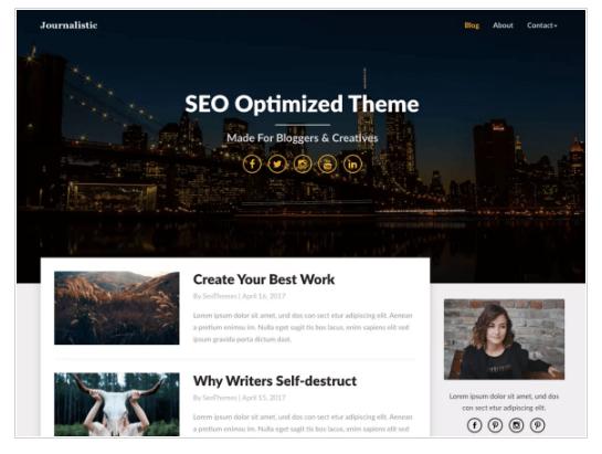 Journalistic WordPress Theme