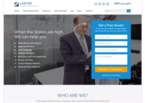 Lawyer Landing Page WordPress Theme