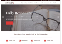 LawyeriaX Lite WordPress Theme