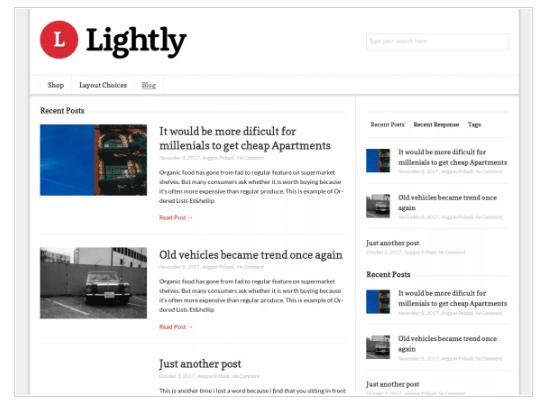 Lightly WordPress Theme