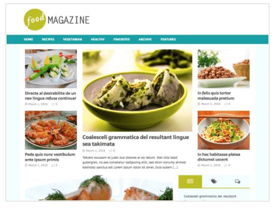 MH FoodMagazine WordPress Theme