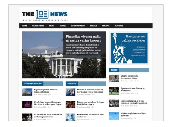 MH NewsMagazine WordPress Theme