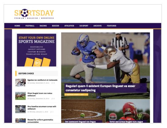 MH SportsMagazine WordPress Theme