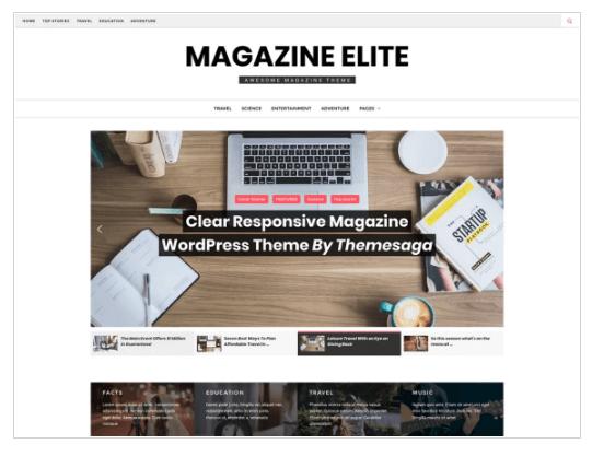 Magazine Elite WordPress Theme