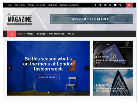 Magazine Saga WordPress Theme