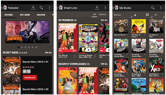 Marvel Comics android app