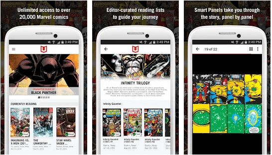 Marvel Unlimited android app