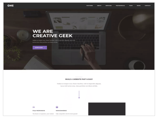 Meridian One WordPress Theme