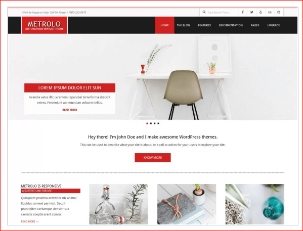 Metrolo WordPress Theme