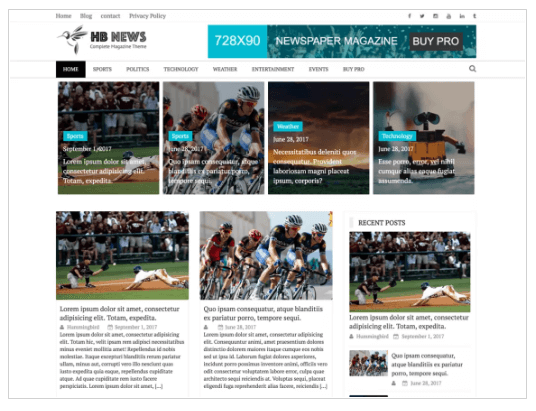 Newspaper Magazine WordPress Theme