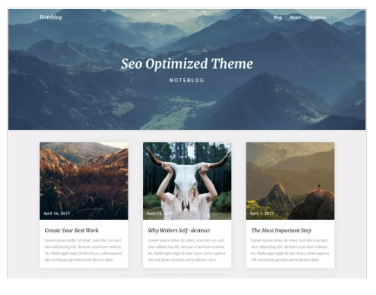Noteblog WordPress Theme