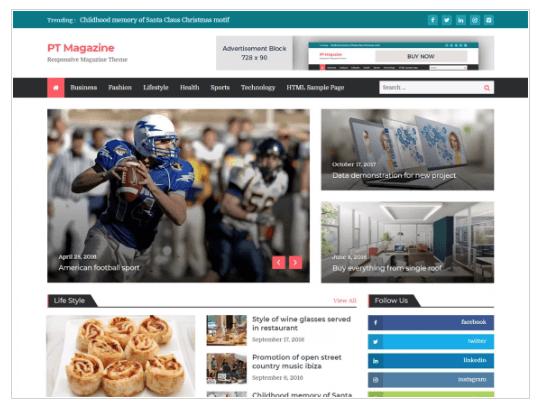 PT Magazine WordPress Theme