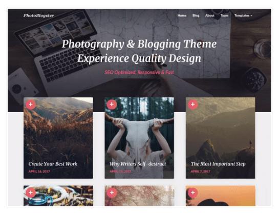 PhotoBlogster WordPress Theme