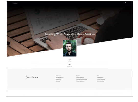 Portfolioo WordPress Theme