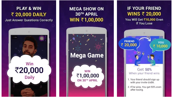 Qureka Play Live Trivia Game Show & Win Cash android app