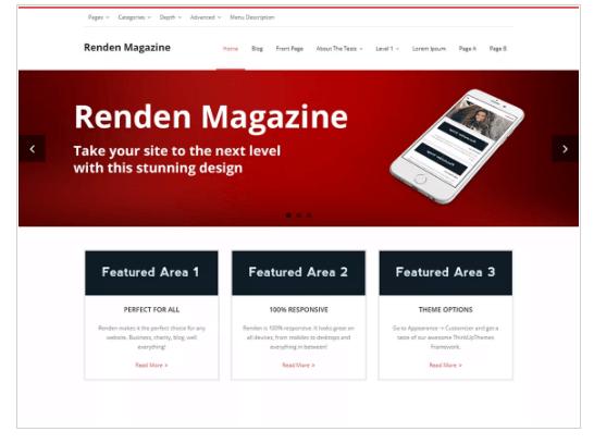 Renden Magazine WordPress Theme
