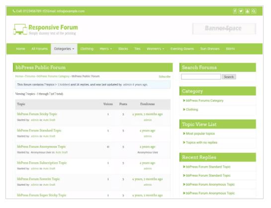Responsive Forum WordPress Theme