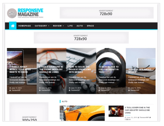 Responsive Magazine WordPress Theme