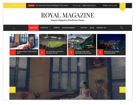 Royal Magazine WordPress Theme