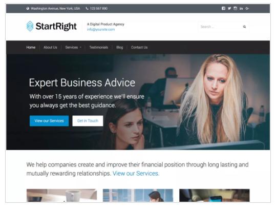StartRight WordPress Theme