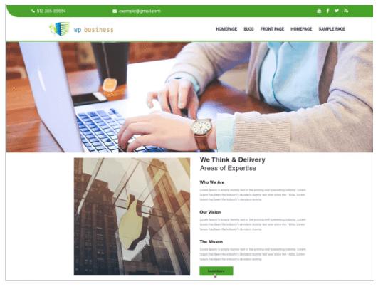 The WP Business WordPress Theme