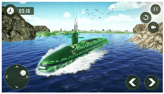 US Army Transporter Submarine Driving Games android app