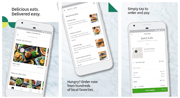 Uber Eats Local Food Delivery android app