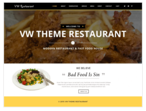 VW Restaurant Lite WordPress Theme