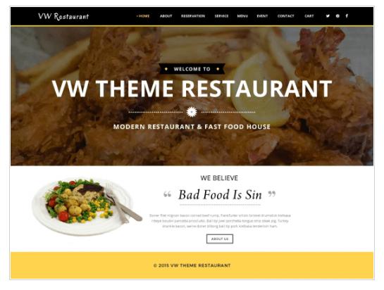 VW Restaurant Lite WordPress Theme