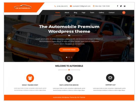 VW automobile Lite WordPress Theme