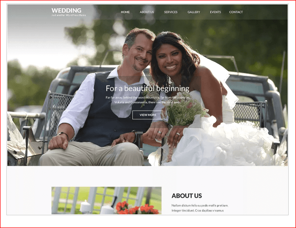 Wedding Band WordPress Theme