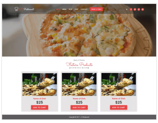 lzrestaurant WordPress Theme