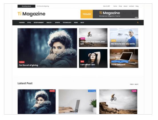 timagazine WordPress Theme