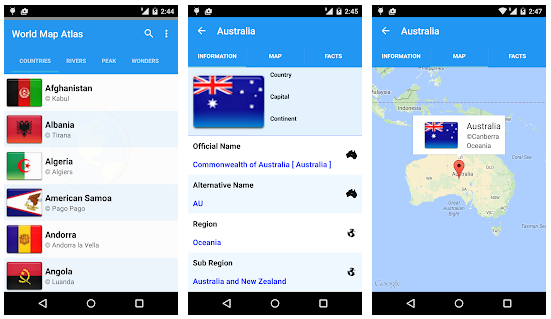 New android app world map atlas 2018 download apk complete review world map atlas 2018 android app gumiabroncs Images
