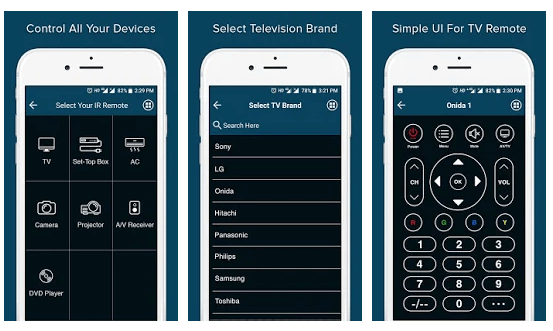 Remote Control for All TV app