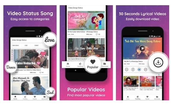 Video Status Song - 30 Seconds app