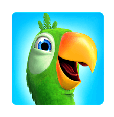 Talking Pierre the Parrot logo