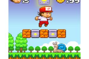 Super Jim Jump - pixel 3d logo