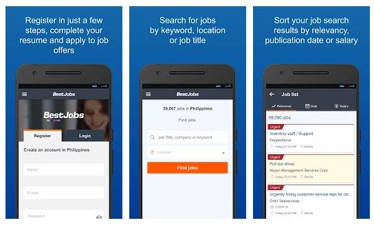 BestJobs Job Search App