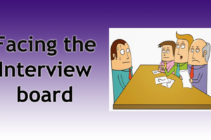 Facing the Interview board