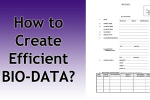 How-to-create-efficient-bio-data