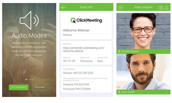 ClickMeeting Webinars-App